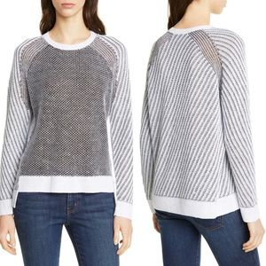 EILEEN FISHER Step Hem Linen Cotton & Silk Sweater